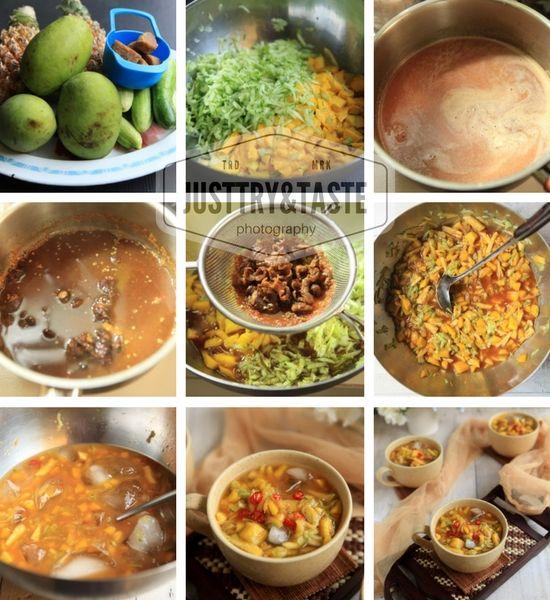 Es Rujak Buah Kweni Nanas Dan Ketimun Makanan Dan Minuman Ide Makanan Resep Masakan