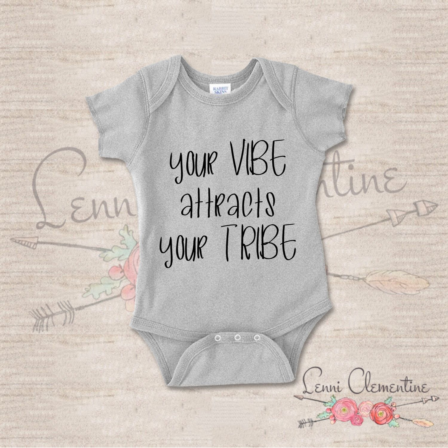 Your Vibe Attracts Your Tribe Infant Bodysuit Hippie Baby Clothes