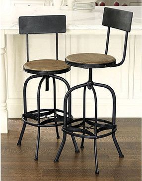 Admirable Allen Stool With Back Rest Traditional Bar Stools And Squirreltailoven Fun Painted Chair Ideas Images Squirreltailovenorg