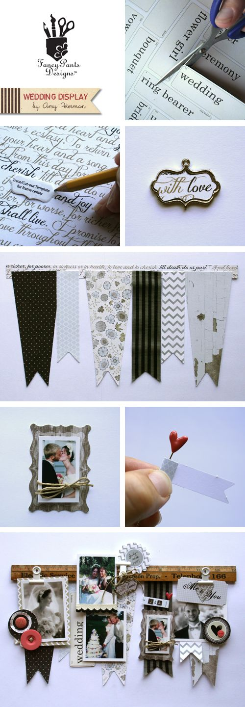 Wedding Display by Amy Peterman for Fancy Pants Designs