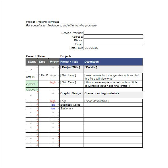 Project Tracking Spreadsheet Template   Budget Template Google