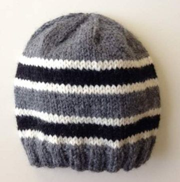 Toddler knit beanie in worsted yarn. Pattern by Kristen Ashbaugh ...