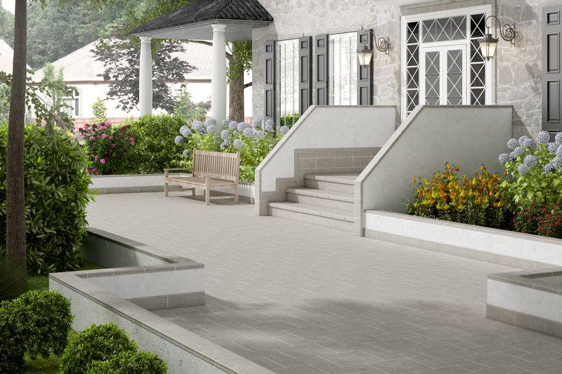 Pavimento porcel nico para exteriores decoraci n - Paisajismo jardines exteriores ...