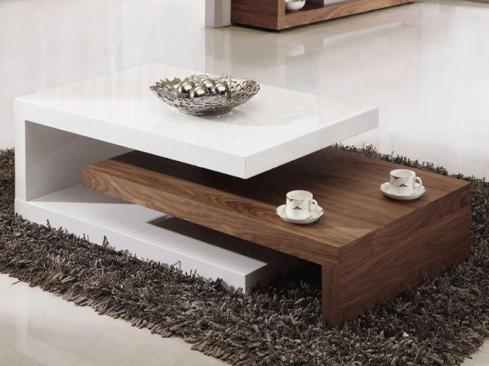Creative Walnut Coffee Table Wooden White Color Unique Coffee Tables Uk Furniture Living Room Table Sets Center Table Living Room Centre Table Living Room #wood #living #room #table #sets