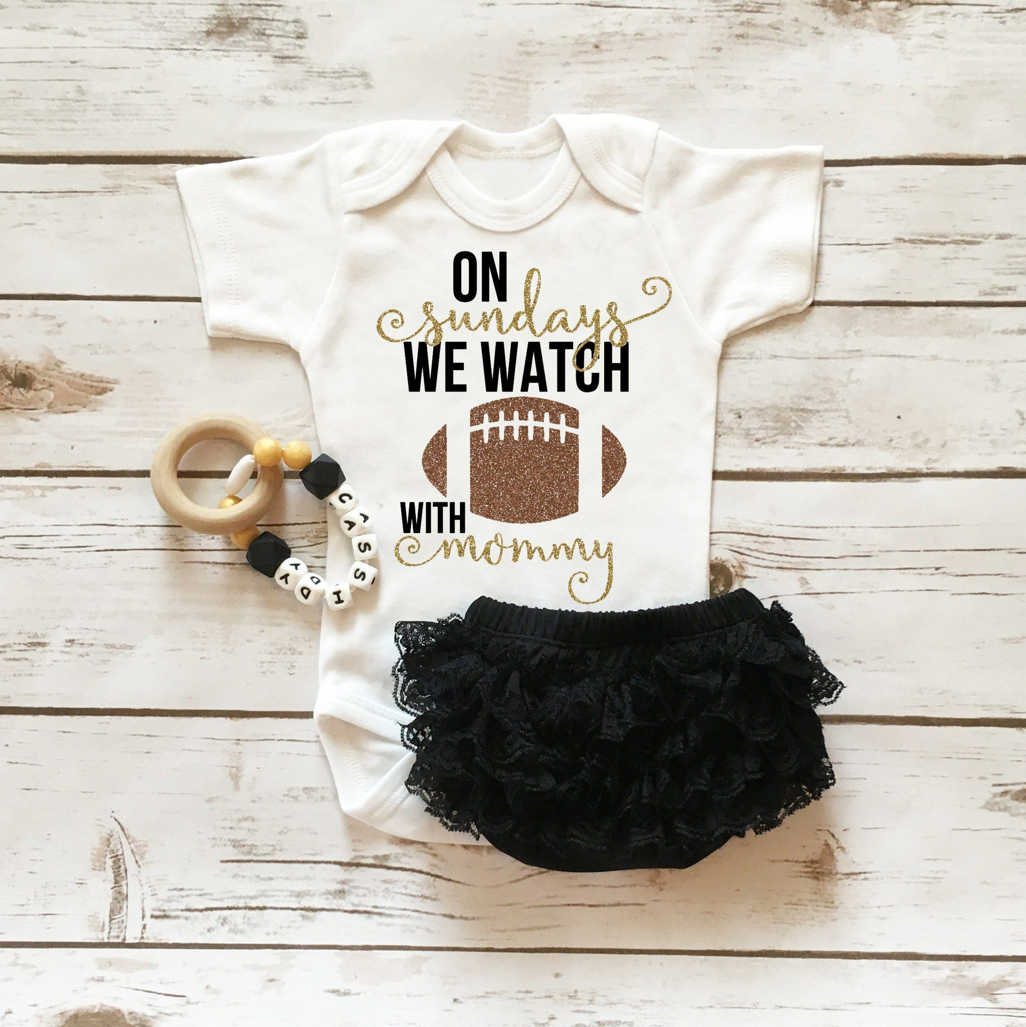 Floral Personalized Name Wall Decal Watch Football Babies And