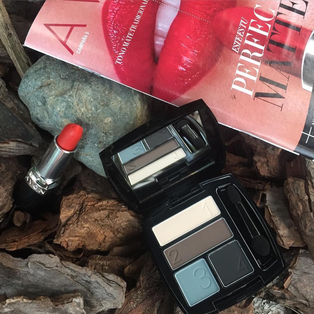"""""""Enamorada de la nueva coleccion matte de @avonpr Miren estas bellezas de sombras y el lipstick bello!! Los quiero todos!  las use en el weekend y quede in…"""" -sustyletv Instagram"""