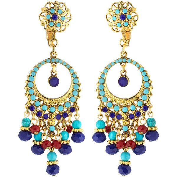 Jose & Maria Barrera Beaded Flower Drop Earrings 7PPMtZd