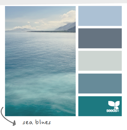 soothing sea blue wordless wednesday coastal decor color palettes sea blues cereusart coastal livingdecorating ideasfor the homemy future home - Home Decor Color Palettes