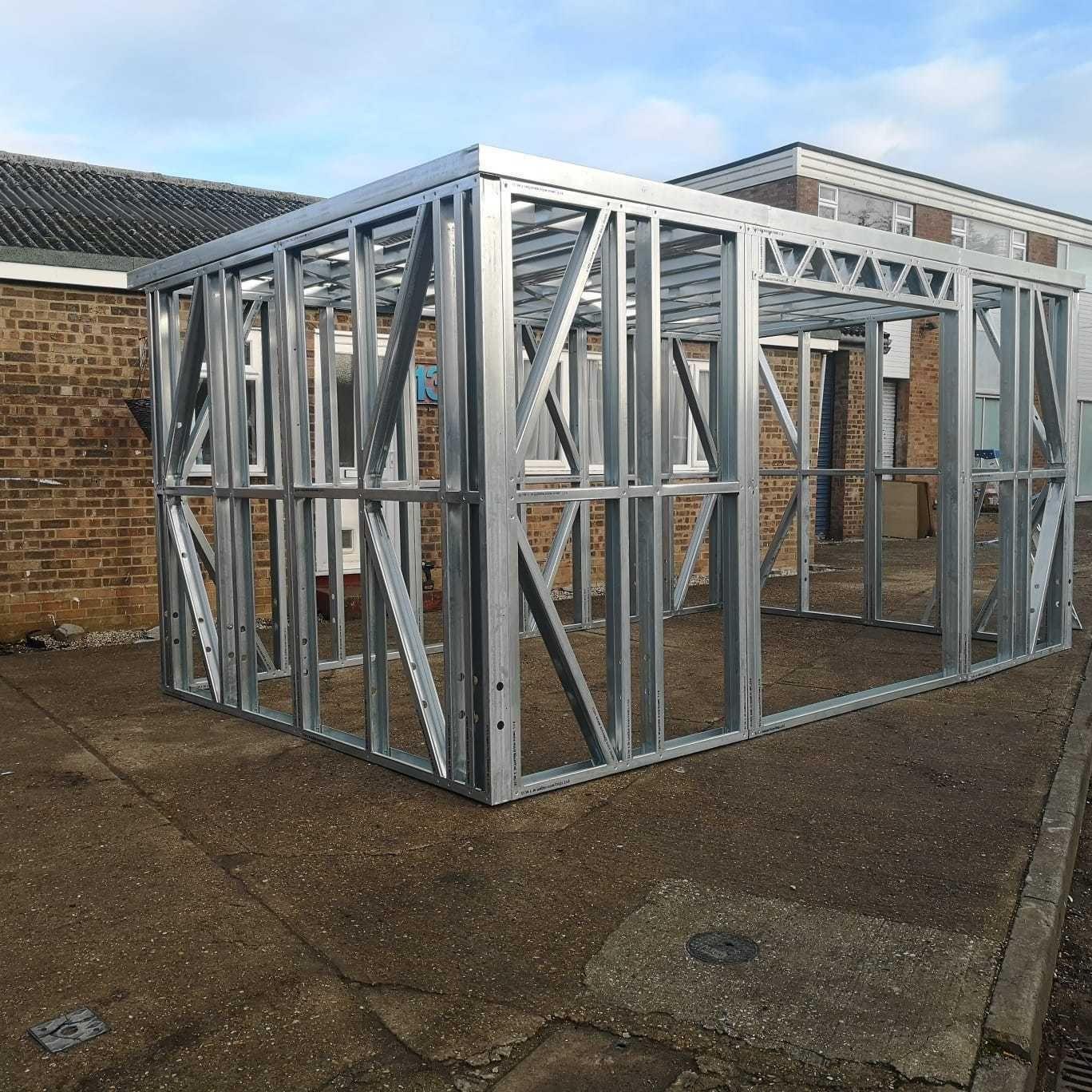 Garden Building Metal Frame, Garden Room, Gym, Home Office