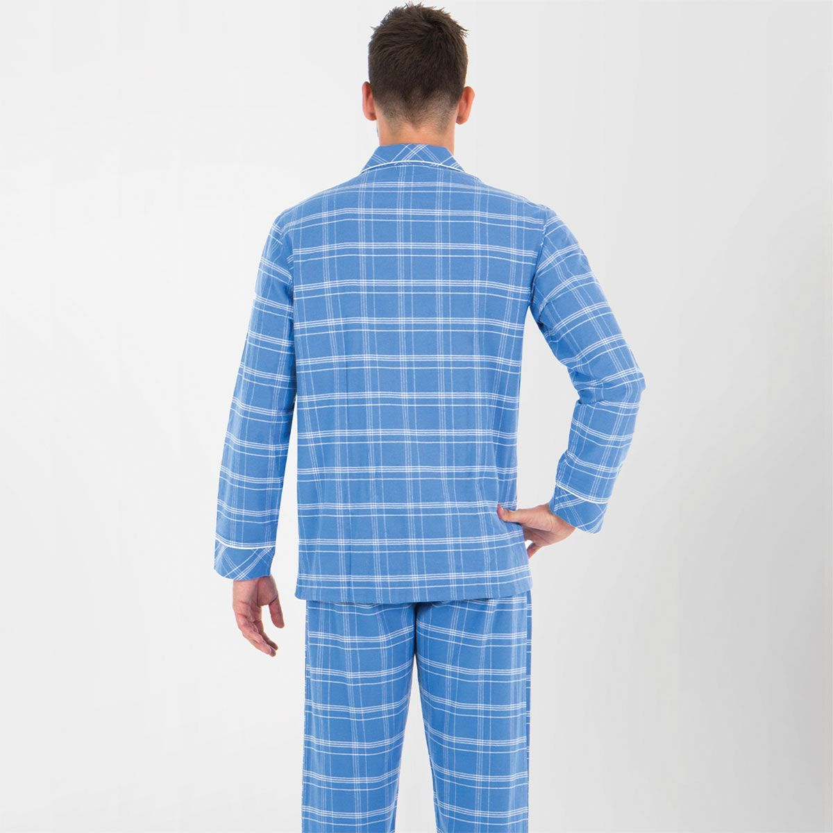 Pyjama Long boutonn/é Homme cha/îne et Trame Heritage Eminence
