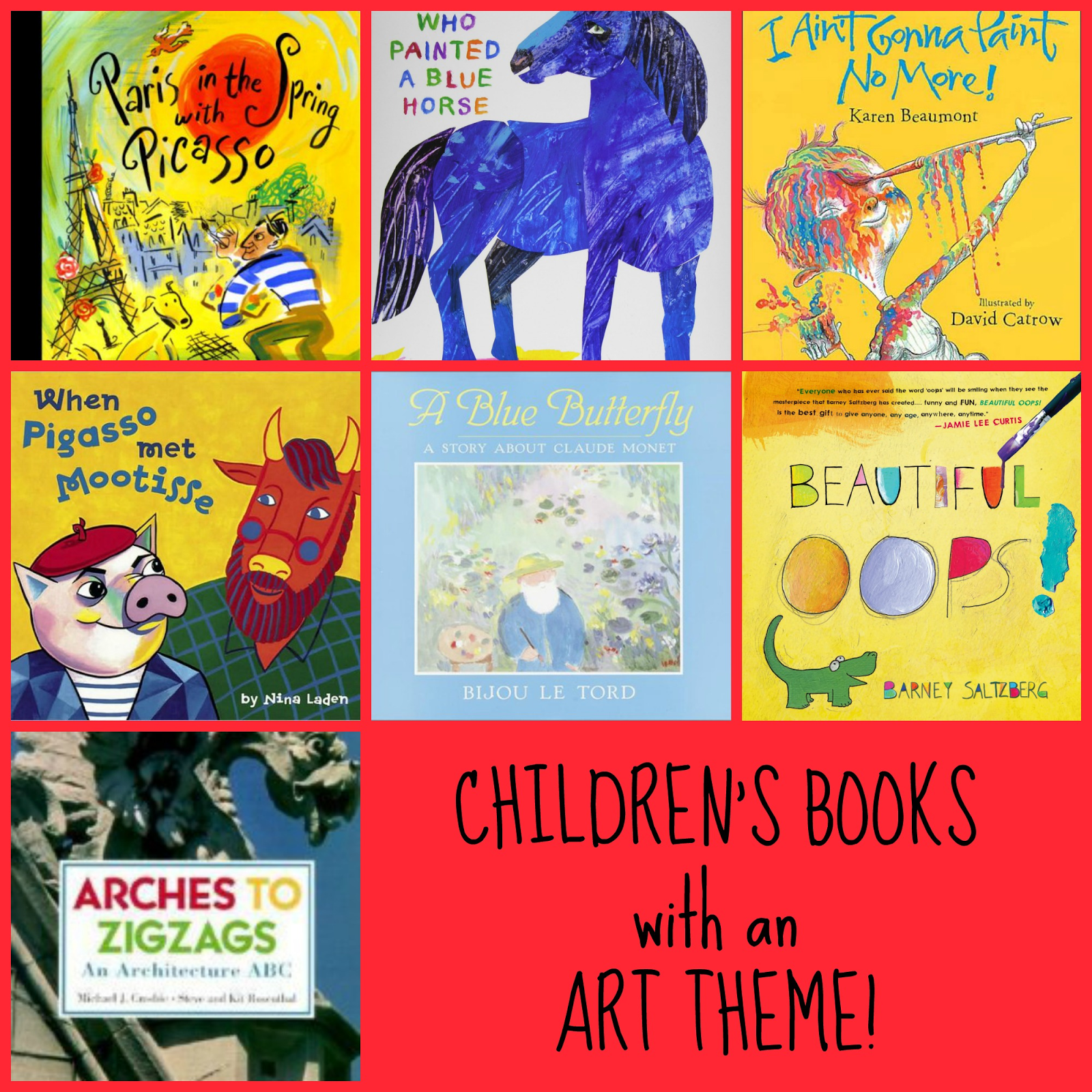Books about color for kids - Mini Monets And Mommies Preschool Picture Books About Art And Artists Famous Artists For Kidsbooks