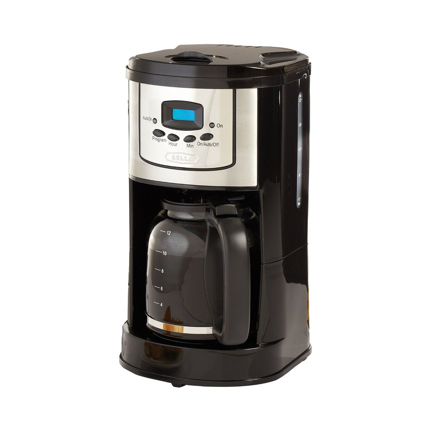Bella 13755 12cup programmable coffee maker polished