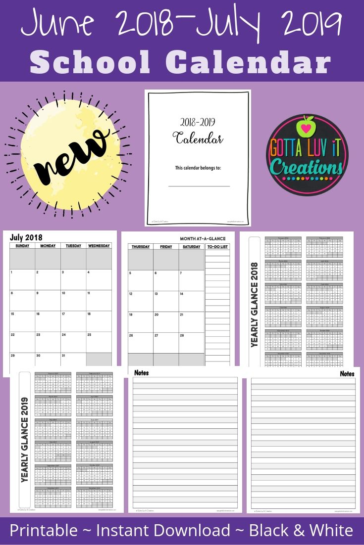 Back to School 20202021 Calendar School calendar