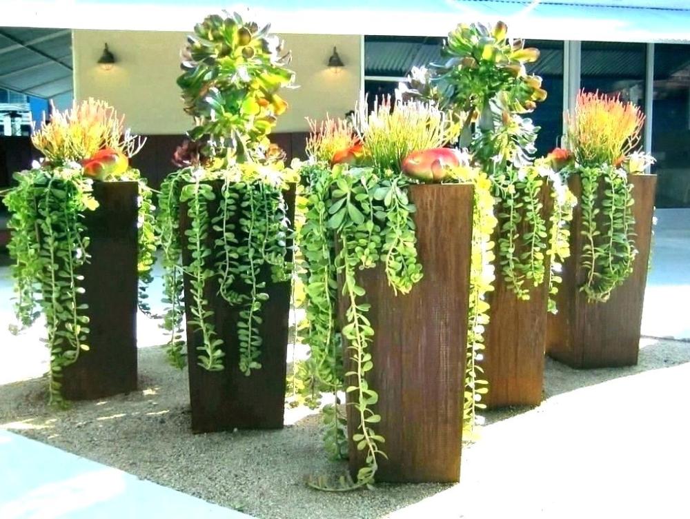 Large Outdoor Flower Pots Home Depot Plant Modern Tall
