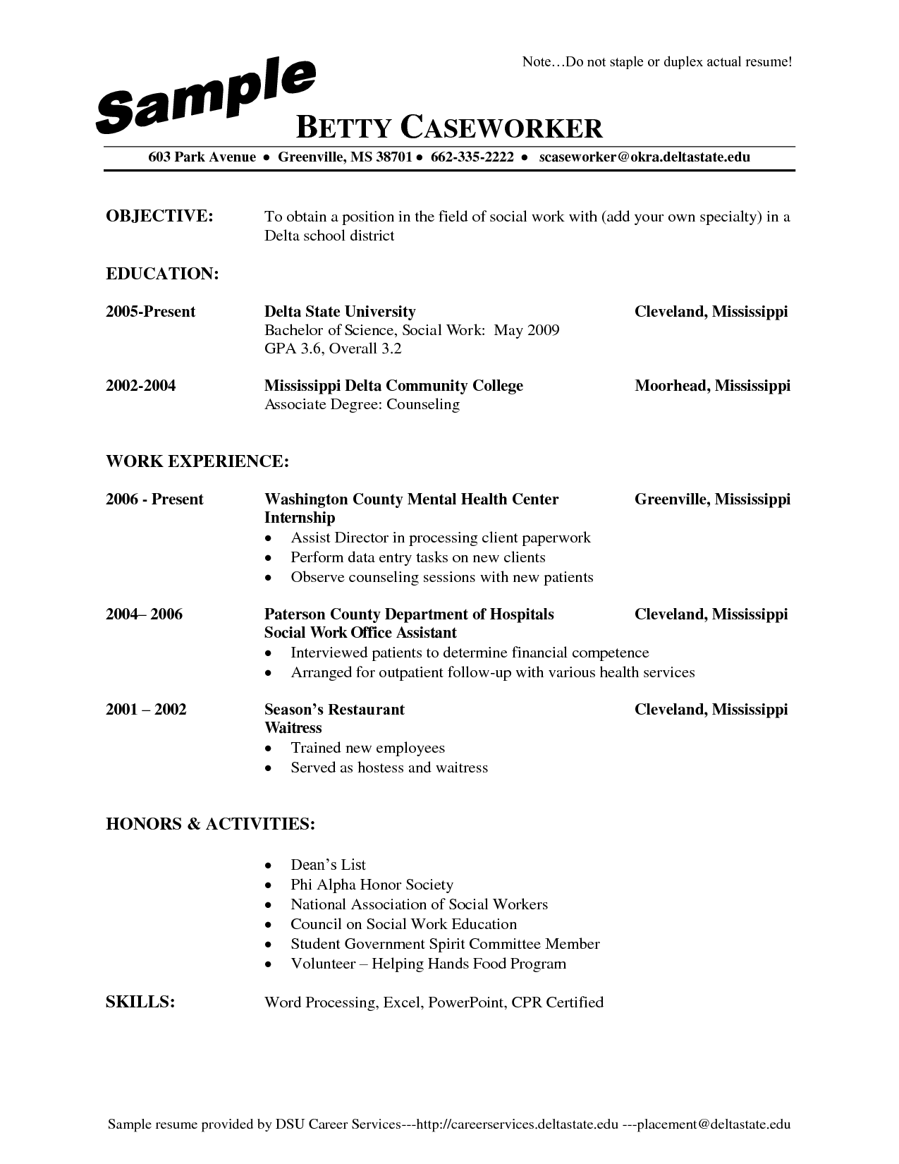 Waitress Resume Skills Examples - http://www.jobresume.website ...