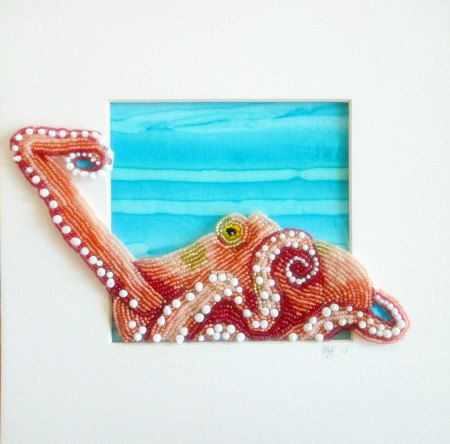 Seed Bead Embroidered Octopus Eleanorpigman Blogspot Com