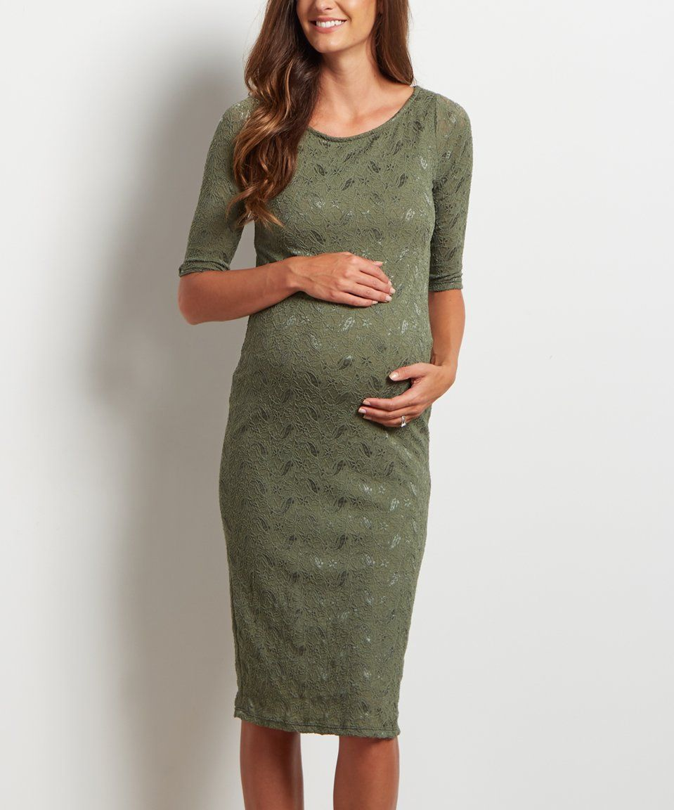 Take a look at this pinkblush olive green lace maternity sheath take a look at this pinkblush olive green lace maternity sheath dress today ombrellifo Images