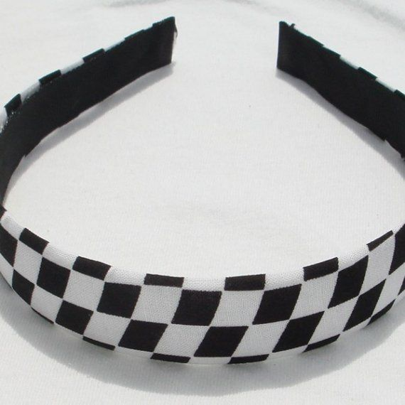 Checker Board Headband Hairband by shirkdesigns on Etsy (Accessories ... 421a582ff2d