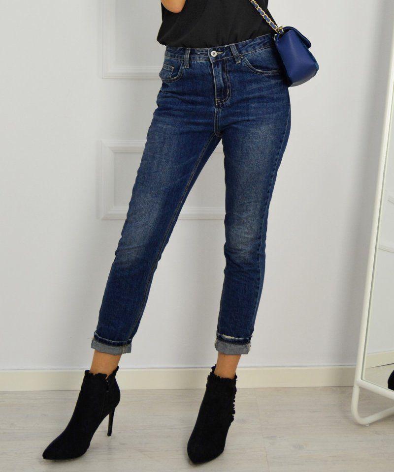 Γυναικείο τζιν παντελόνι boyfriend με ξεβάμματα A2176  γυναικείατζιν   παντελόνια  μόδα  γυναίκα  ψηλόμεσατζιν  womensjeans  fashion  style d3f9b7d78be