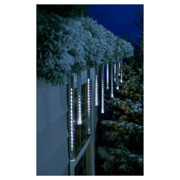 Philips 12 Ct Cascading Icicle Lights Cool White Icicle Christmas Lights Icicle Lights Outdoor Best Christmas Lights