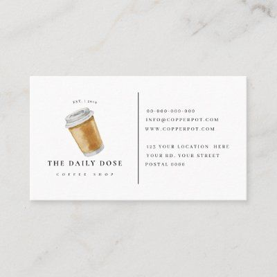 Loyalty Card For Coffee Shop Business Card Zazzle Com Coffee Shop Business Card Coffee Shop Business Restaurant Business Cards