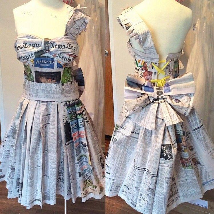News Paper Dress