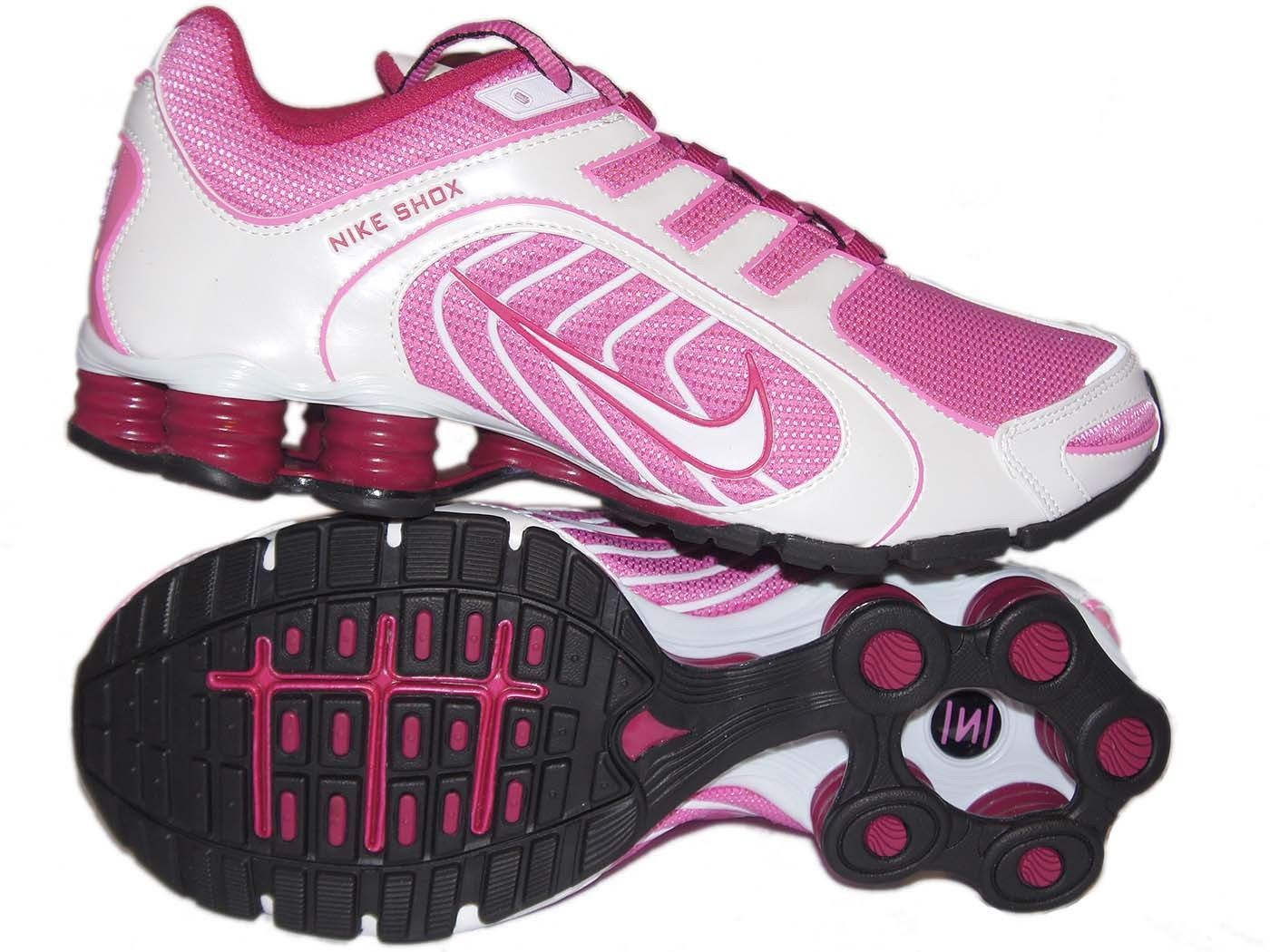 a8bec3cbf997bc ... ireland womens nike shox navina size 9 red violet white black bright  pink running cdee8 efd5c
