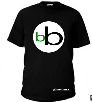 Black Tee with the white, green and black logo design.