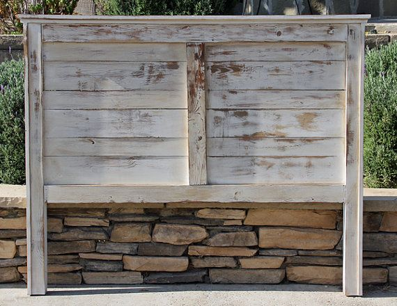 Queen Rustic Headboard Farmhouse Painted And Heavy Distressed By Foo La
