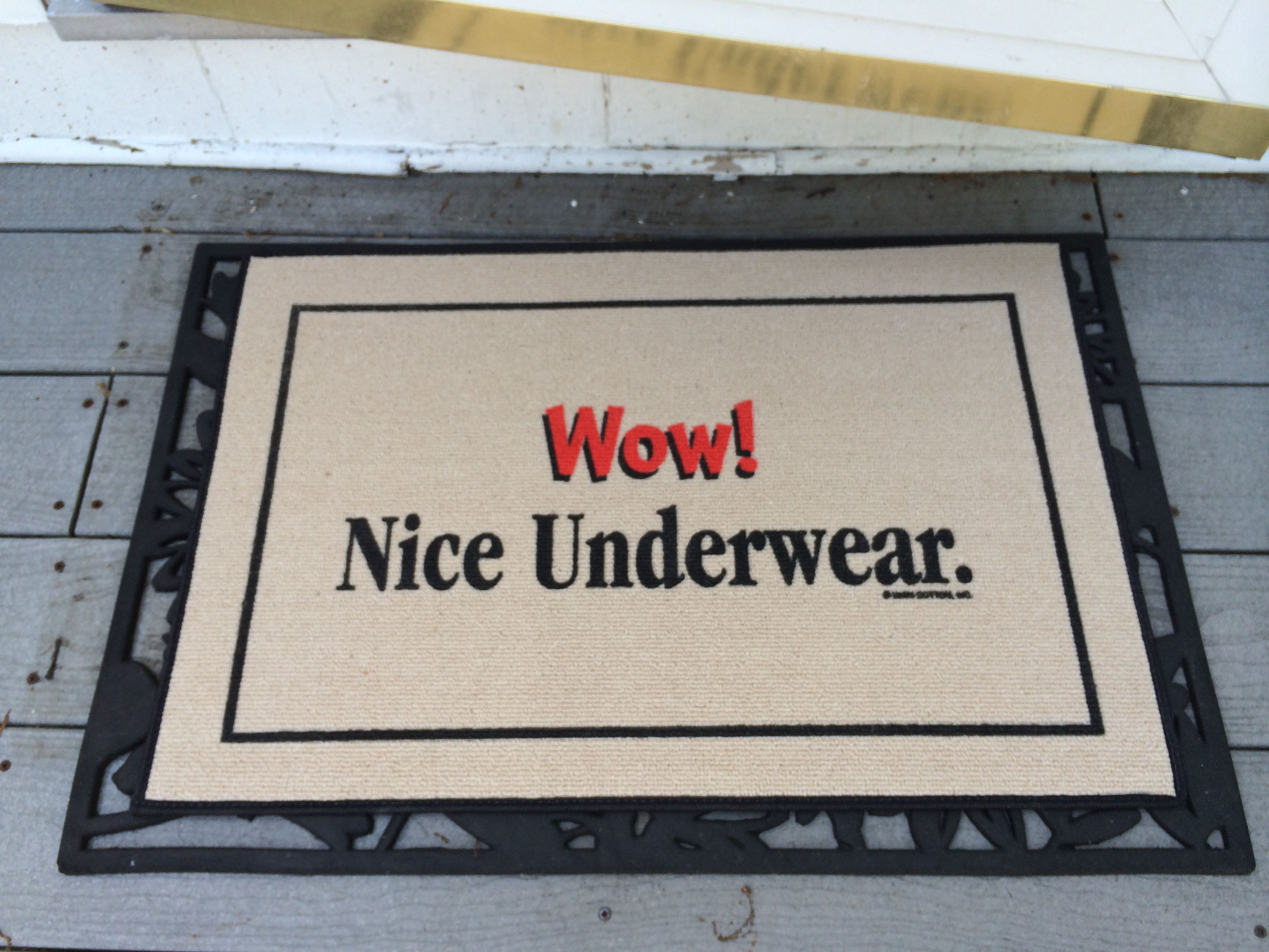 simple but funny, replace someone's doormat
