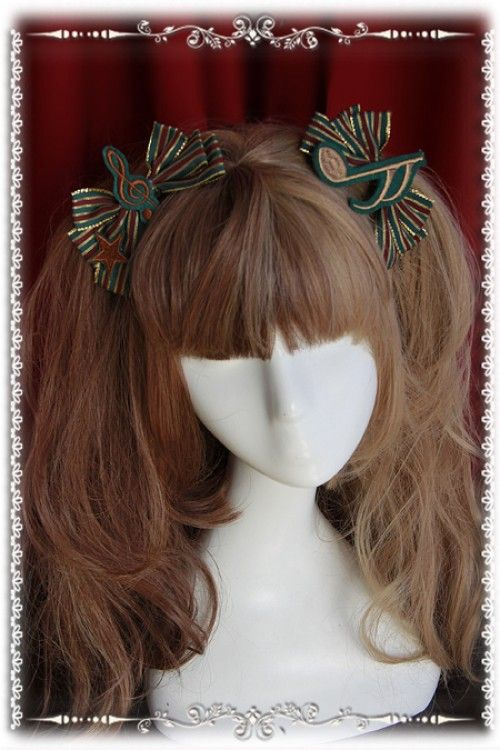 Infanta Music Notes Embroidery Lolita Headbows