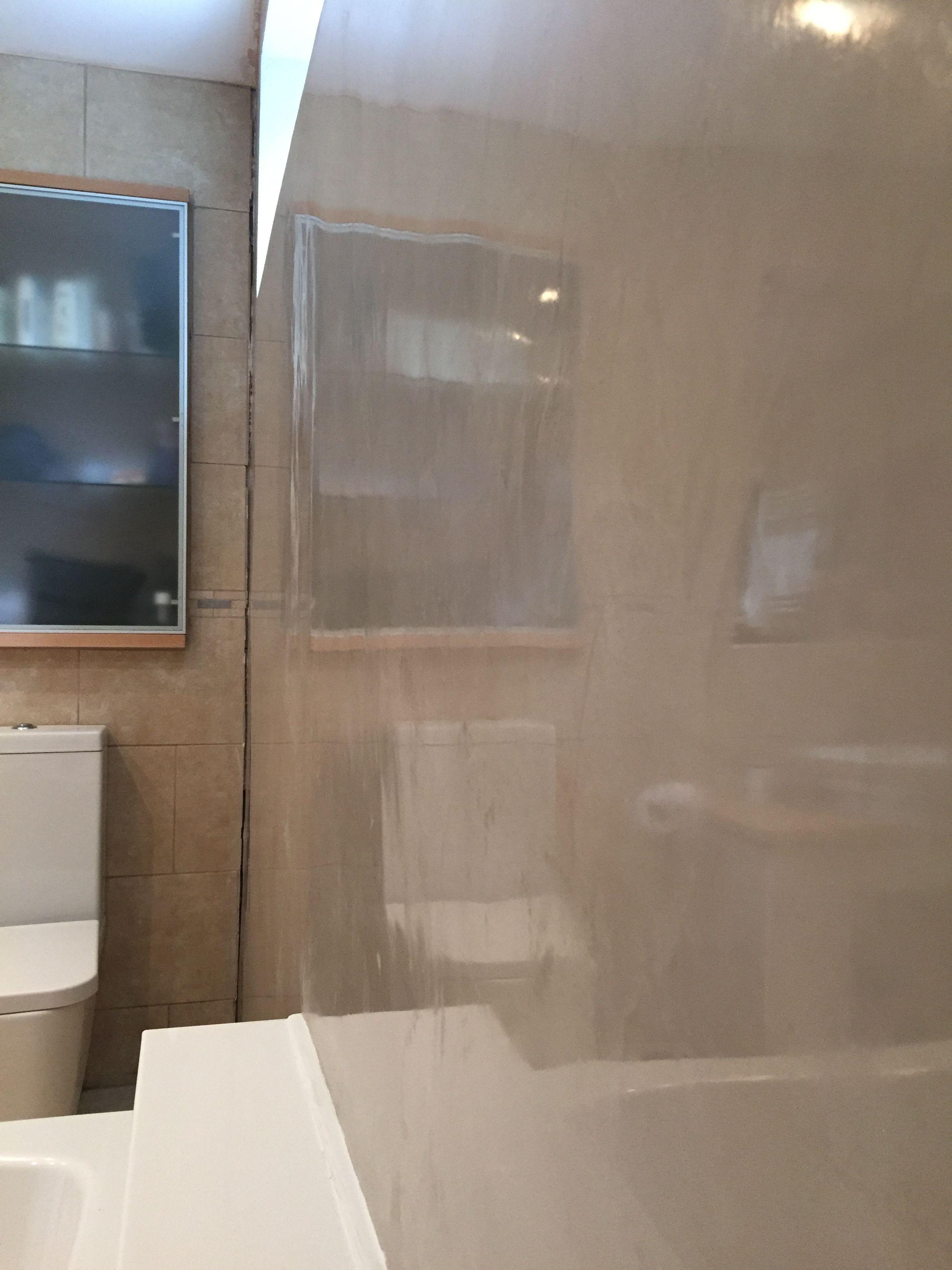 Bathroom Feature Wall I Did In Marmorino Classico Venetian Plaster Bathroom Feature Wall Venetian Plaster Stucco Veneziano
