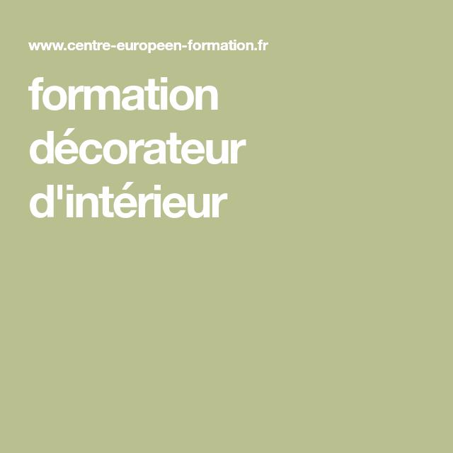 formation décorateur d'intérieur