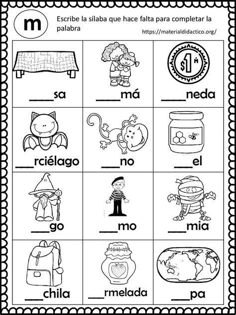 Separar En Silabas Buscar Con Google Silabas Separar Actividades De Lectura Preescolar Letra M Preescolar Actividades De Letras