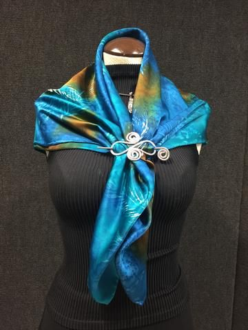 63a9392c9 Floating Feathers - Hand Painted Silk Scarf | scarves | Silk, Silk ...