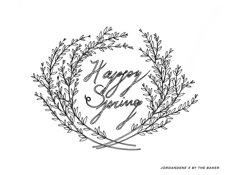 Jordandene April Coloring Page | Fun Stuff | Pinterest