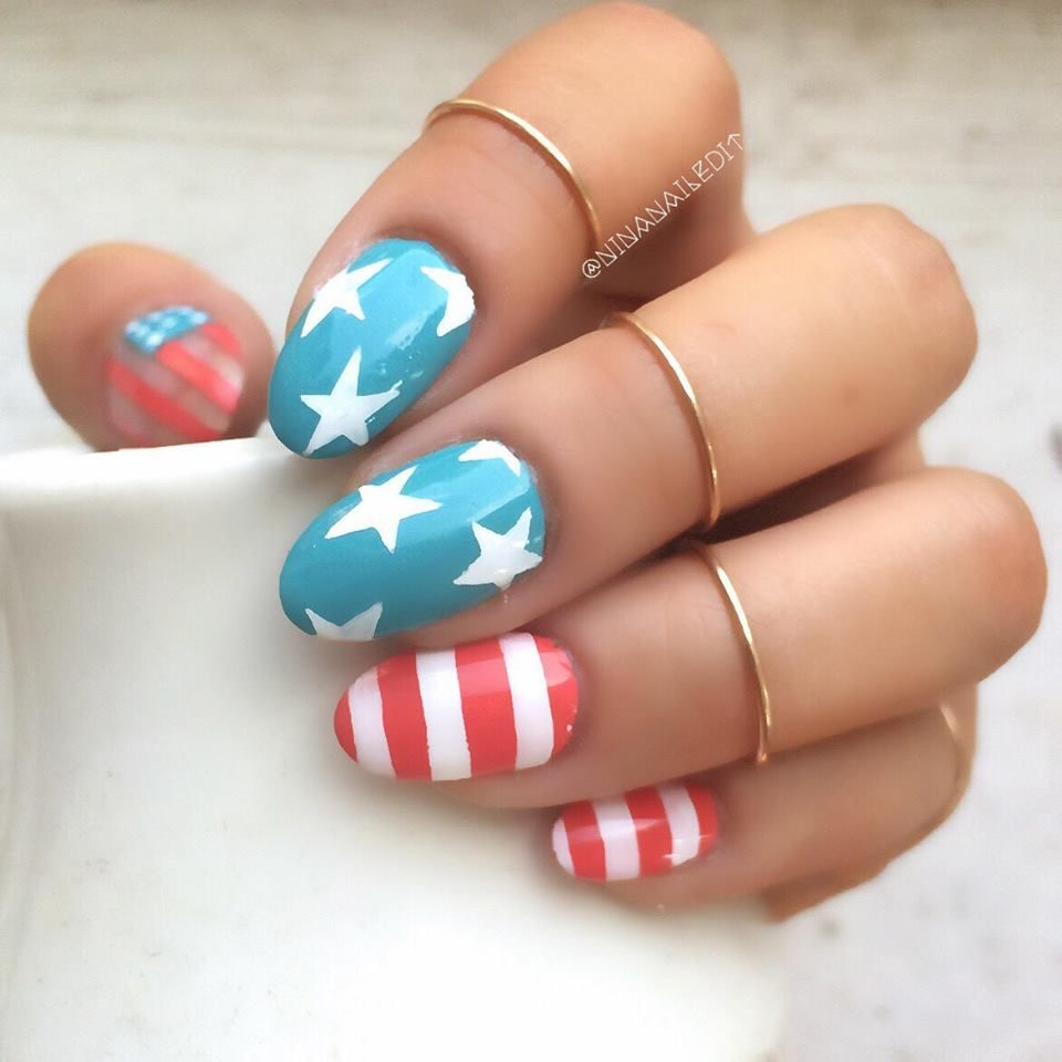 patrioticnails.quenalbertini: Fourth of July Nails | Nail Art on ...