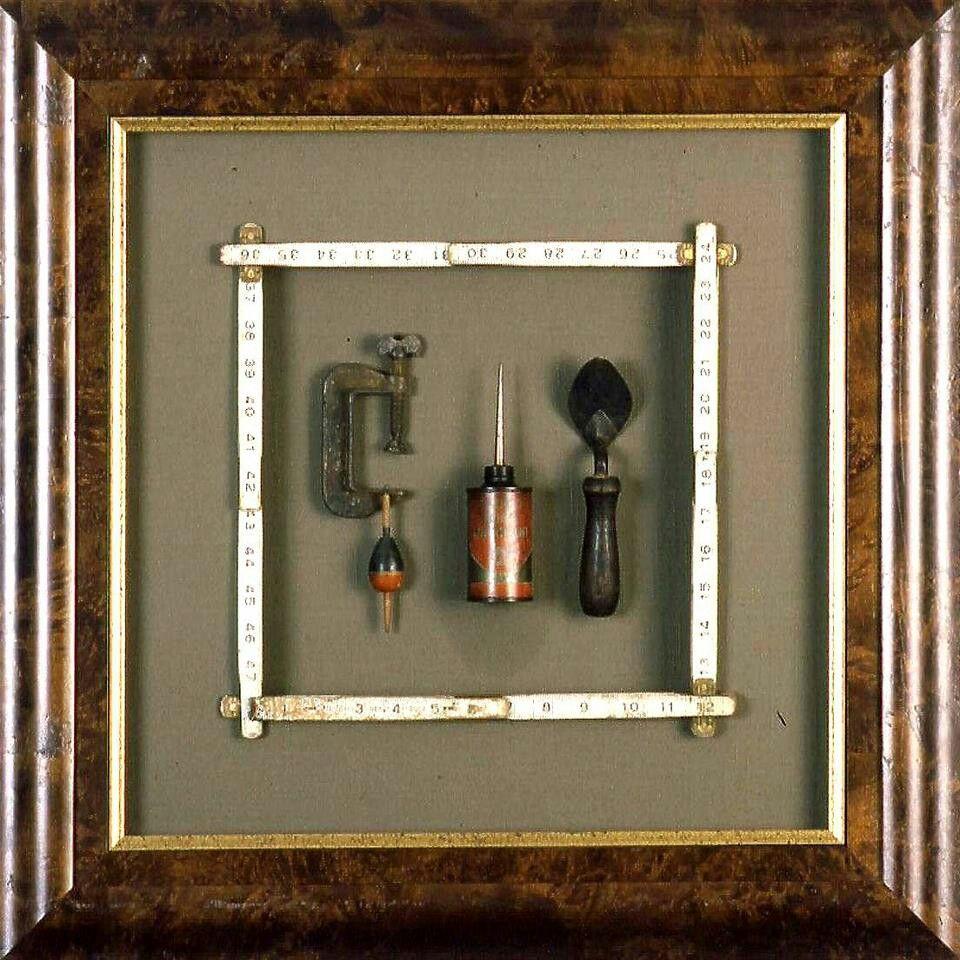 Custom Tool Wall: Antique Tools Shadowbox