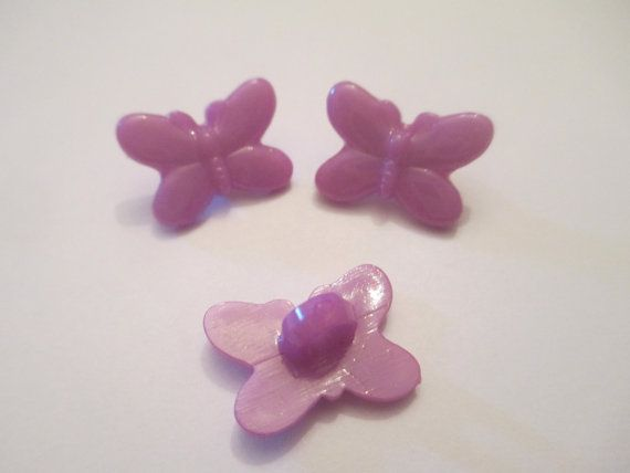 10 Resin Purple Butterfly Buttons by jenuinecraftsandmore on Etsy