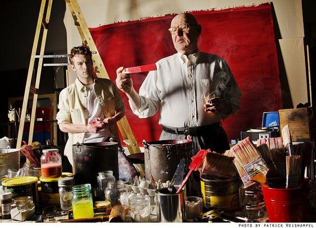 "Patrick Alparone and Daniel Benzali in John Logan's ""Red."" Photo by Patrick Weishampel."