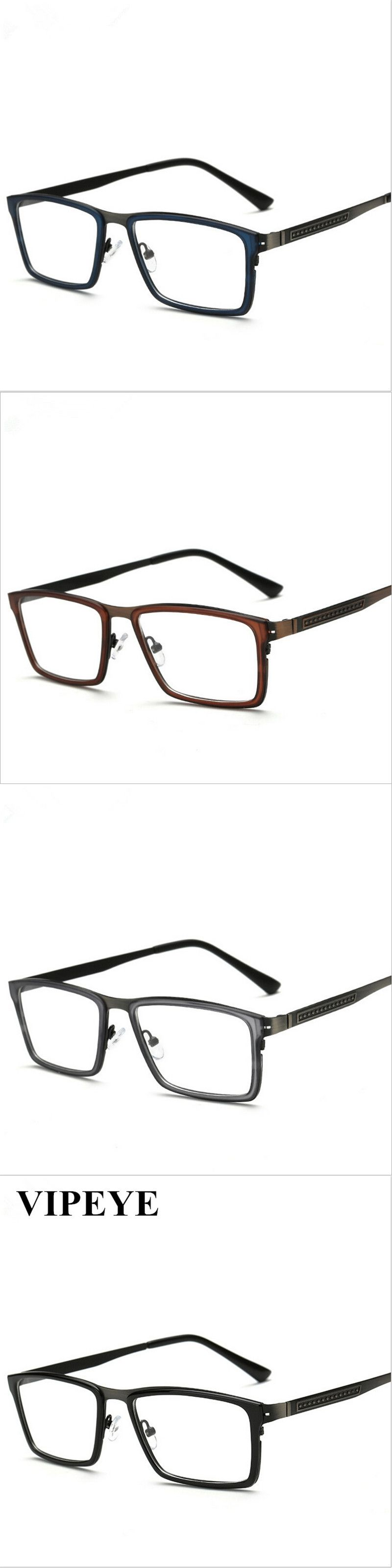 245a4e3805 Hot Style Big Square Frames Mens Glasses Alloy Frames For Lady And  Gentalmen Simple Shape Glass Frame Eyewear Wholesale