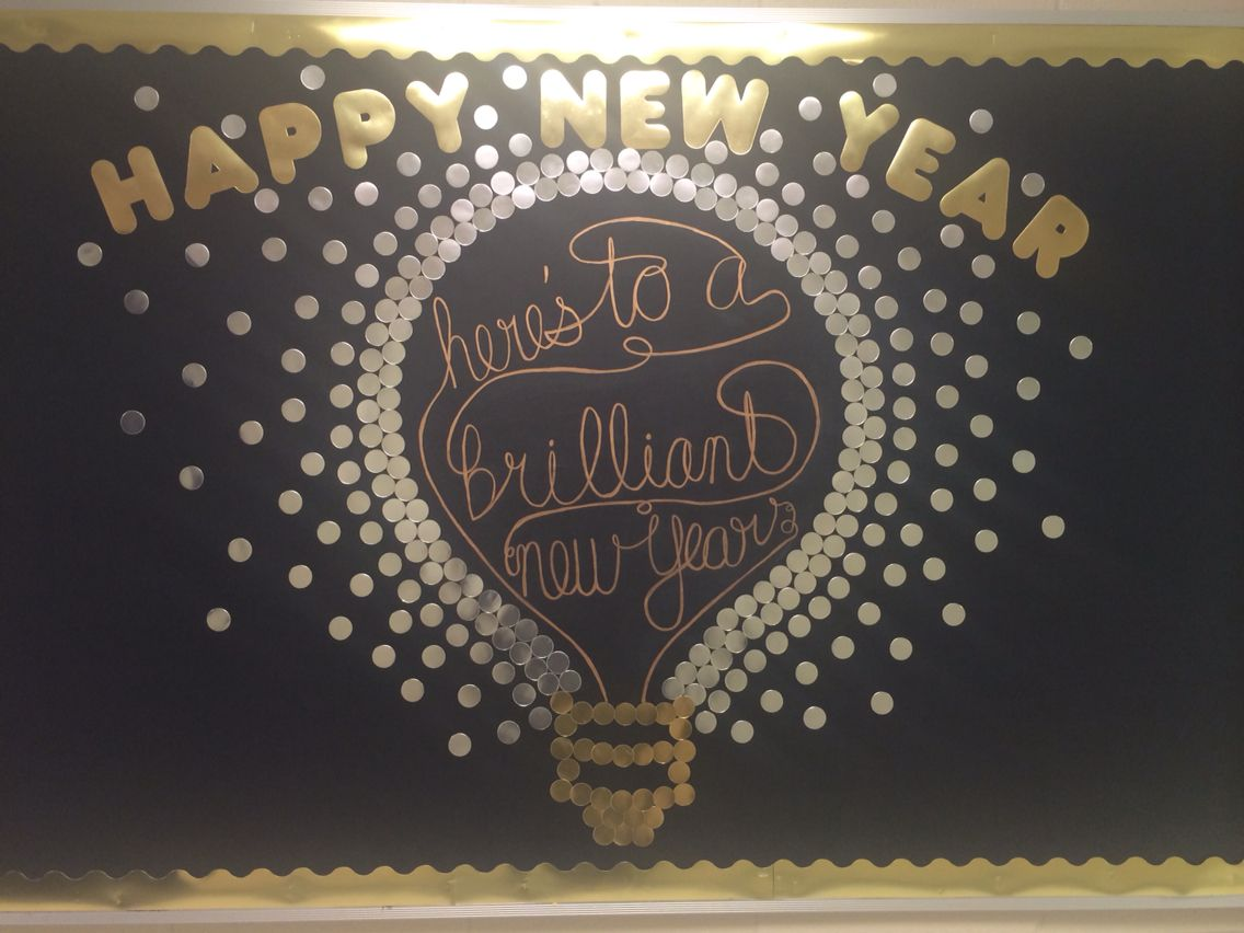 Classroom Ideas For New Years ~ Happy new year here s to a brilliant bulletin