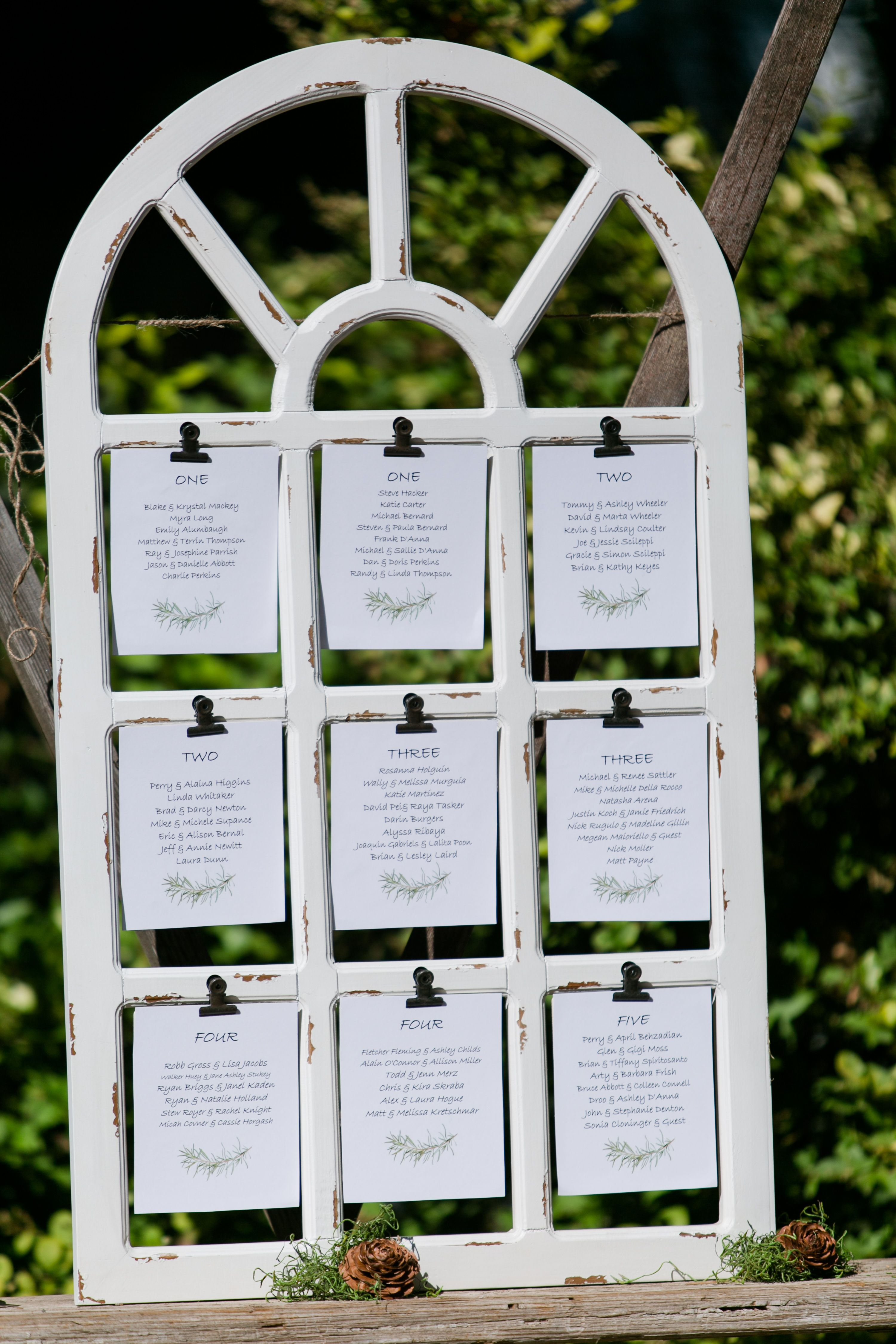 Window frame seating chart repurpose  as you can either write on the panes with glass pen or clip your also charming outdoor wedding ideas for spring springtime rh pinterest