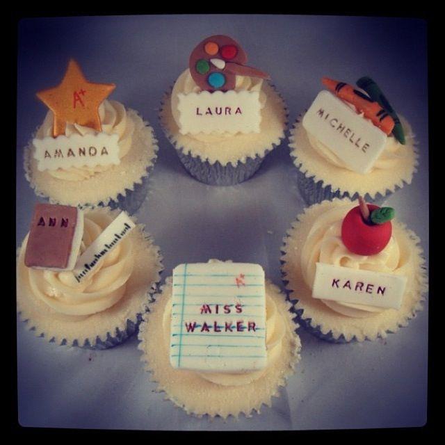 Teacher cupcake | baking for school and gifts | Teacher ...