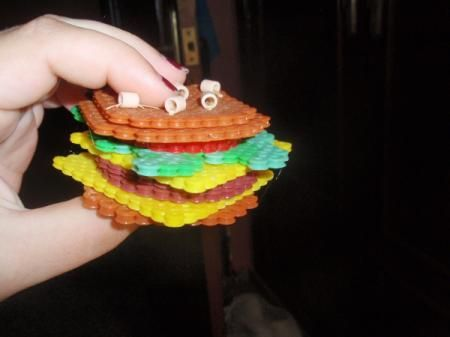 hamburguesa en relieve