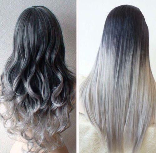 Grey Hair Tumblr Hair Styles Grey Ombre Hair Long Hair Styles
