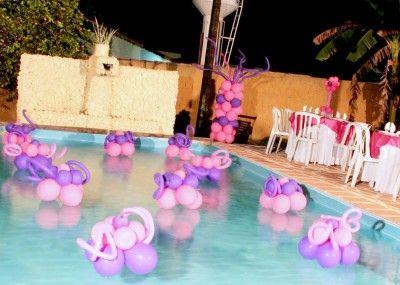 Fiesta con alberca xv pawi pinterest albercas for Albercas para fiestas
