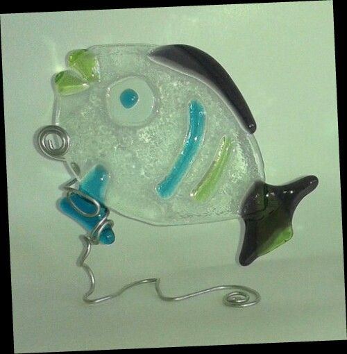 Pesce in vetro fusione - bomboniera - battesimo - comunione