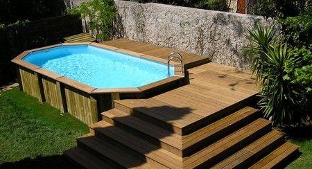 Installer une piscine hors sol juin 2014 above ground - Peut on enterrer une piscine hors sol ...