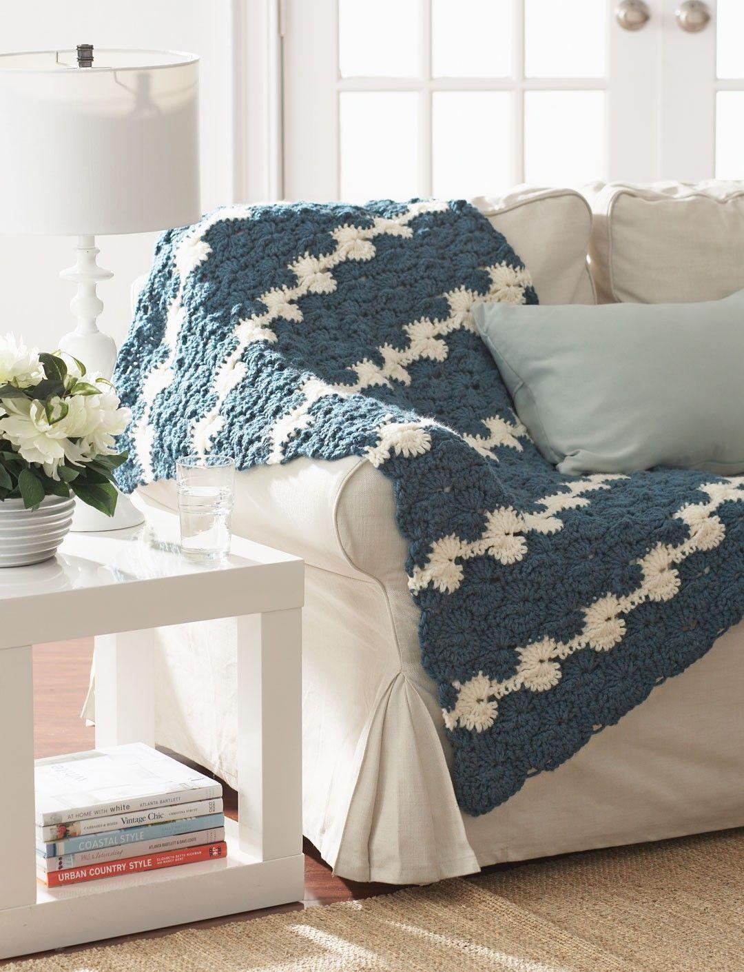 Yarnspirations bernat gentle waves lap blanket patterns bernat gentle waves lap blanket free easy afghan crochet pattern p dt1010fo